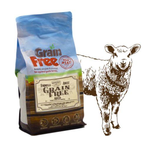 Cibo per cani Grain Free con agnello, patate e menta