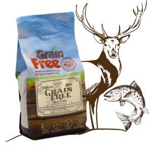 Cibo cani Grain Free di cervo e salmone