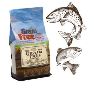 Cibo per cani Grain Free con salmone, trota, patate e asparago
