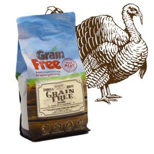 Cibo per cani Grain Free con tacchino, patate e mirtillo rosso